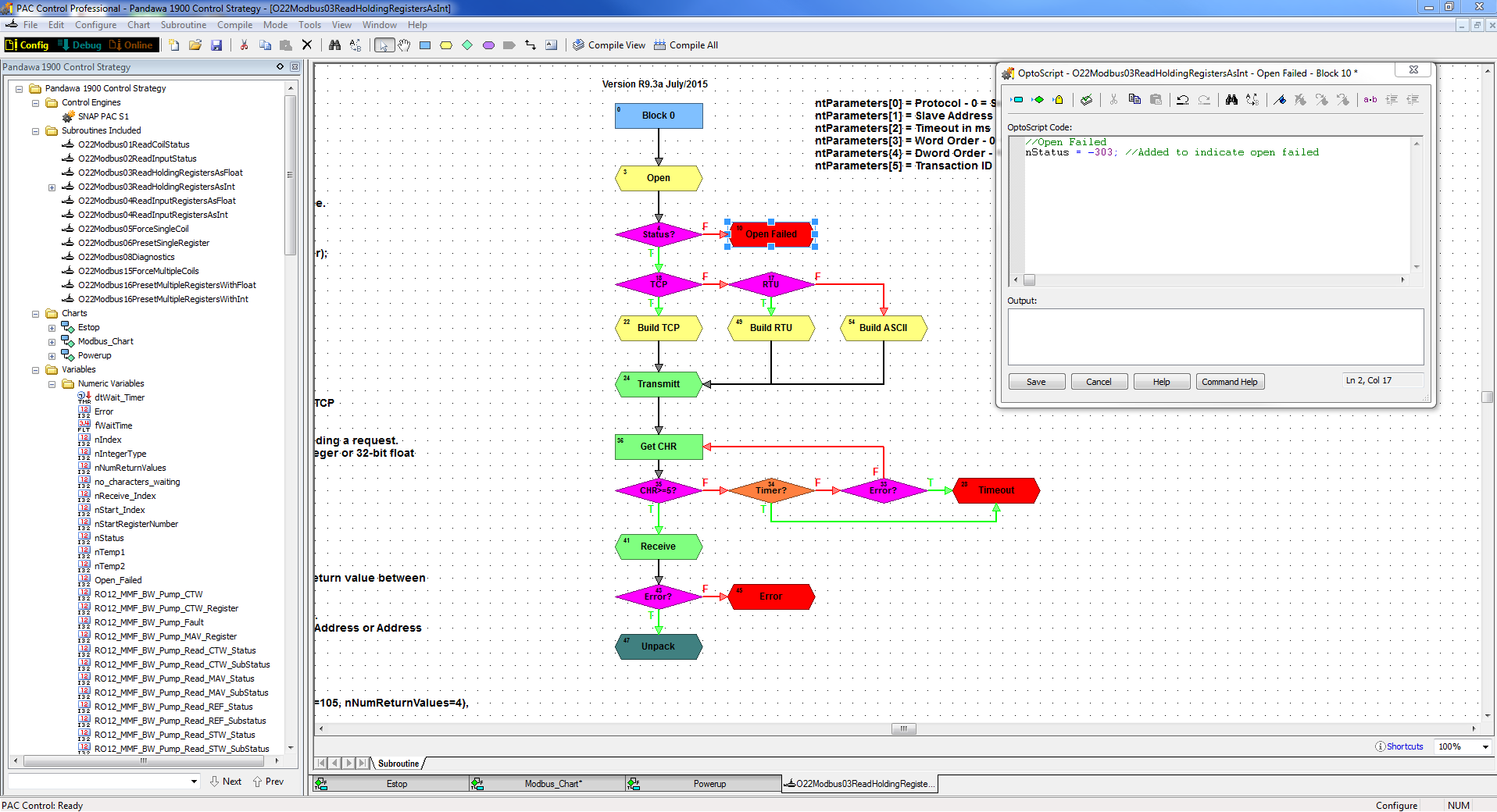 Modbus open communication timeout is too long - Applications