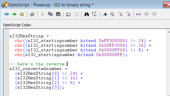 Binary hex string conversions - Code Samples and Tips - OptoForums